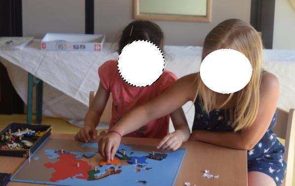 La carte puzzle de l'Europe -coopération